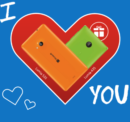 Microsoft approfitta di San Valentino per una promozione con i fiocchi: per ogni Lumia 535, in regalo un 435.