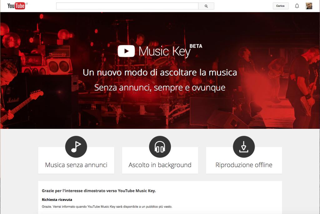 Si chiama MusicKey ed è il servizio di distribuzione musicale di YouTube che, scommettiamo, inciderà pesantemente sul settore.