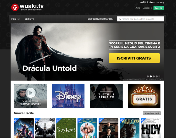 Arriva anche in Italia Wuaki.tv con film e serie TV in streaming e la promessa di contenuti in 4K.