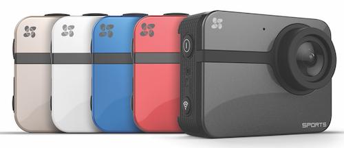 ezviz S1, oltre che nel classico colore nero, è disponibile anche in rosso, blu, bianco e oro.
